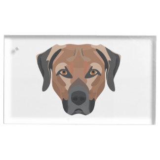 Illustration Dog Brown Labrador Table Card Holder