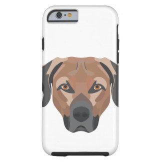 Illustration Dog Brown Labrador Tough iPhone 6 Case