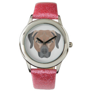 Illustration Dog Brown Labrador Watch