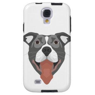 Illustration Dog Smiling Pitbull Galaxy S4 Case