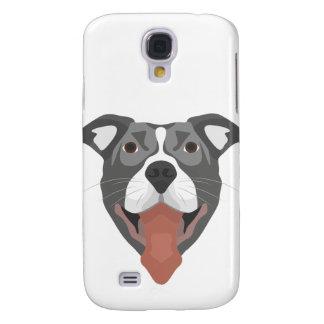 Illustration Dog Smiling Pitbull Galaxy S4 Cover
