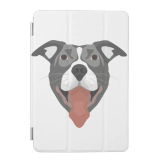 Illustration Dog Smiling Pitbull iPad Mini Cover