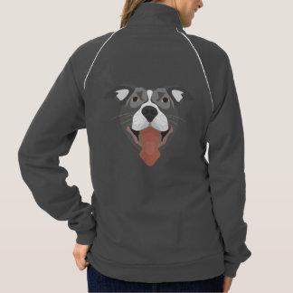 Illustration Dog Smiling Pitbull Jacket