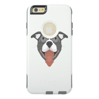 Illustration Dog Smiling Pitbull OtterBox iPhone 6/6s Plus Case