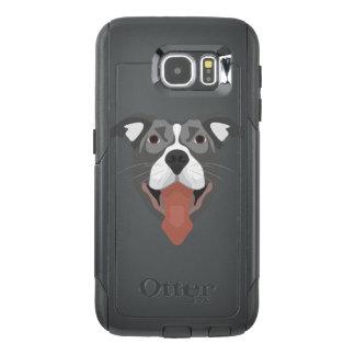 Illustration Dog Smiling Pitbull OtterBox Samsung Galaxy S6 Case