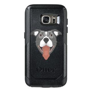 Illustration Dog Smiling Pitbull OtterBox Samsung Galaxy S7 Case