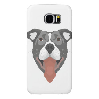 Illustration Dog Smiling Pitbull Samsung Galaxy S6 Cases