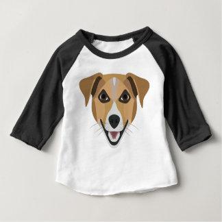 Illustration Dog Smiling Terrier Baby T-Shirt