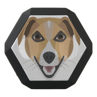 Illustration Dog Smiling Terrier Black Bluetooth Speaker
