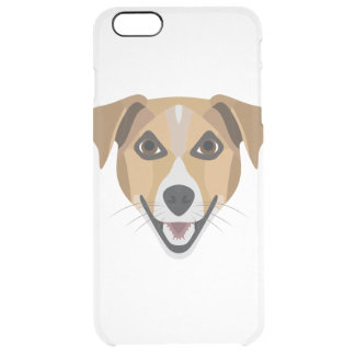 Illustration Dog Smiling Terrier Clear iPhone 6 Plus Case