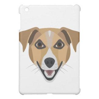 Illustration Dog Smiling Terrier iPad Mini Cover