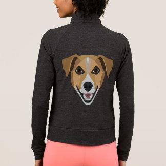 Illustration Dog Smiling Terrier Jacket
