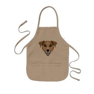Illustration Dog Smiling Terrier Kids Apron