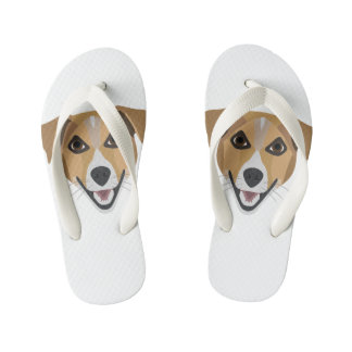 Illustration Dog Smiling Terrier Kid's Thongs