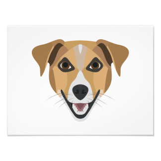 Illustration Dog Smiling Terrier Photo Print