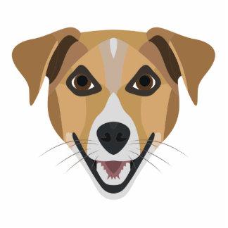 Illustration Dog Smiling Terrier Photo Sculpture Key Ring