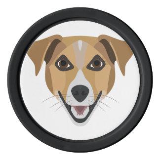 Illustration Dog Smiling Terrier Poker Chips