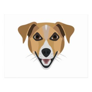 Illustration Dog Smiling Terrier Postcard