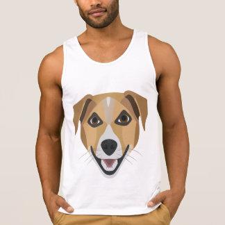 Illustration Dog Smiling Terrier Singlet