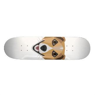 Illustration Dog Smiling Terrier Skateboard