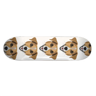 Illustration Dog Smiling Terrier Skateboard