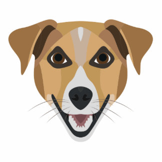 Illustration Dog Smiling Terrier Standing Photo Sculpture