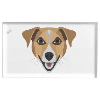 Illustration Dog Smiling Terrier Table Card Holder