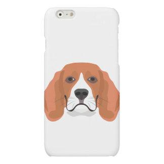 Illustration dogs face Beagle