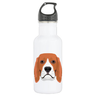 Illustration dogs face Beagle 532 Ml Water Bottle
