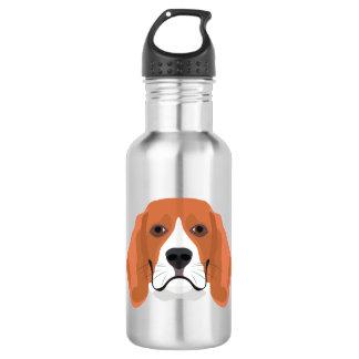 Illustration dogs face Beagle 532 Ml Water Bottle