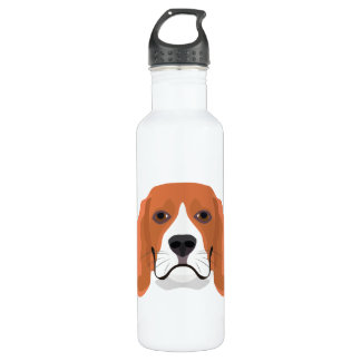 Illustration dogs face Beagle 710 Ml Water Bottle