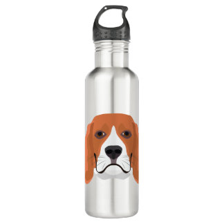 Illustration dogs face Beagle 710 Ml Water Bottle