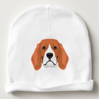 Illustration dogs face Beagle Baby Beanie