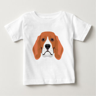 Illustration dogs face Beagle Baby T-Shirt