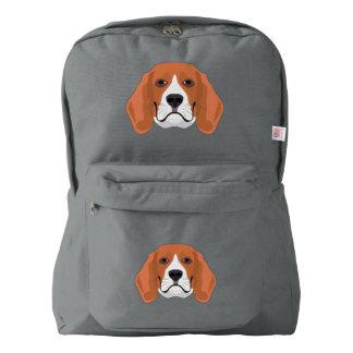 Illustration dogs face Beagle Backpack