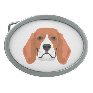 Illustration dogs face Beagle Belt Buckles