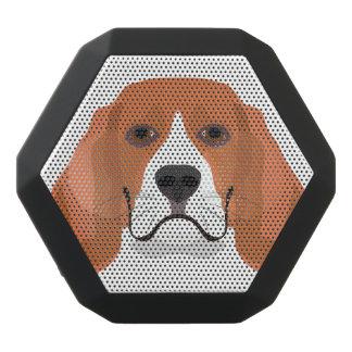 Illustration dogs face Beagle Black Bluetooth Speaker