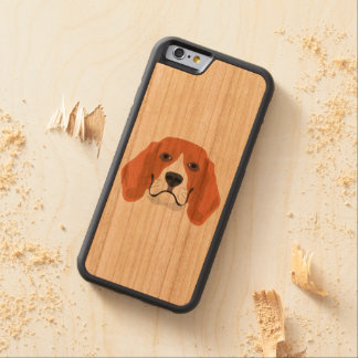 Illustration dogs face Beagle Carved Cherry iPhone 6 Bumper Case