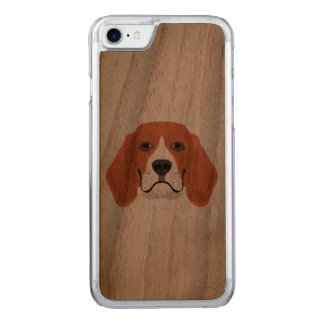 Illustration dogs face Beagle Carved iPhone 8/7 Case