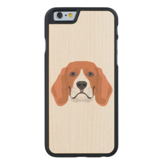 Illustration dogs face Beagle Carved Maple iPhone 6 Case