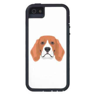 Illustration dogs face Beagle Case For The iPhone 5