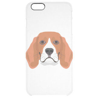 Illustration dogs face Beagle Clear iPhone 6 Plus Case