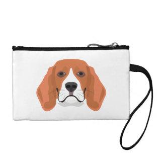 Illustration dogs face Beagle Coin Purse