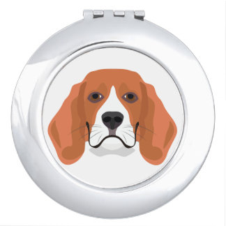Illustration dogs face Beagle Compact Mirror