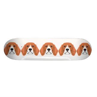 Illustration dogs face Beagle Custom Skate Board