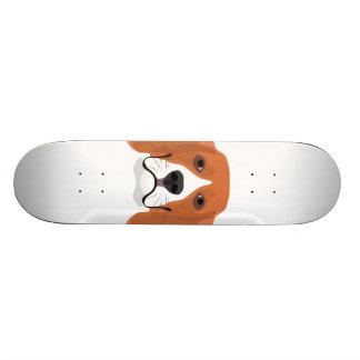 Illustration dogs face Beagle Custom Skateboard
