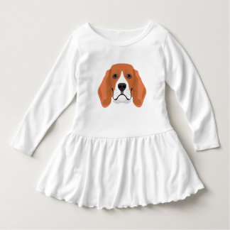 Illustration dogs face Beagle Dress