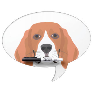 Illustration dogs face Beagle Dry Erase Board