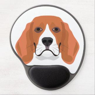 Illustration dogs face Beagle Gel Mouse Pad