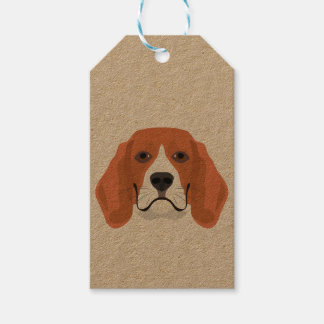 Illustration dogs face Beagle Gift Tags